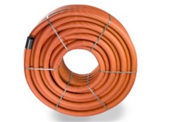 PE Drain-Flex-Rohr gerollt ungeschlitzt, rot NW 80 Ø 90 x 77mm innen glatt