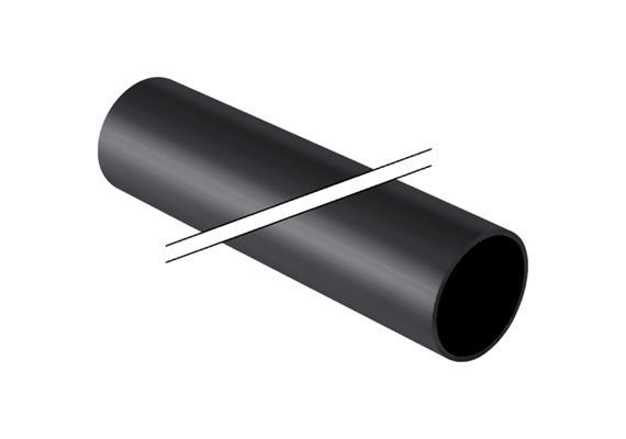 PE-Rohr für die Hausentwässerung Ø 75 x 3mm