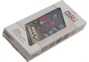 Presszange und Aderendhülsen-Sortiment, in Kunststoffbox mit Klarsichtdeckel