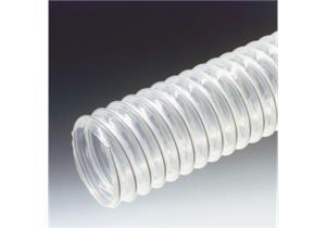 PUR-W Spiralschlauch Innen-Ø125, Aussen-Ø130mm, transparent, für Absaugung und Belüftung