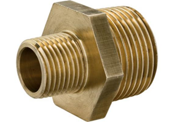 "RARIC Doppelnippel Nr. 60245 kurz Messing AG 3/8 x AG 1/4"""