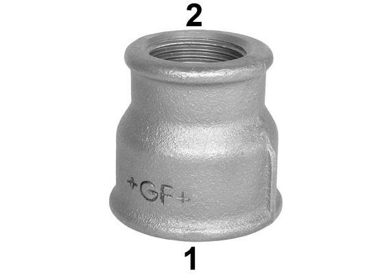 """Reduktionsmuffen Innengewinde verzinkt +GF+ Nr. 240 4 - 3"""""""