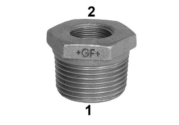 "Reduktionsnippel Innen- /Aussengewinde verzinkt +GF+ Nr. 241 1 1/2 - 1/2"""