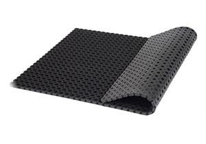 Ringgummimatte schwarz mit offenem Boden 1000x1500x23mm Lochgrösse 23mm