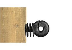 Ringisolator Gallagher schwarz klein mit Holzgewinde 250Stk