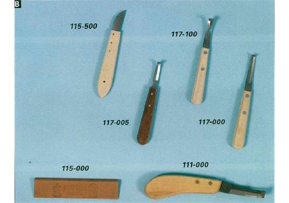 Rinnmesser doppelschneidig breite Klinge