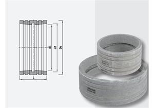 Schachtfutte aus Faserzement Ø 500 A 570 L 120 mit Dichtung
