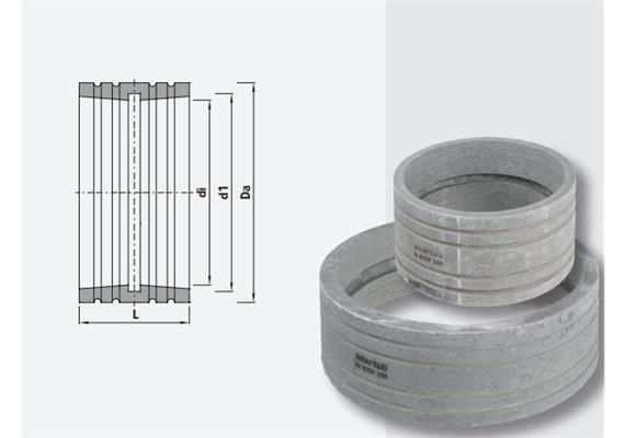 Schachtfutter aus Faserzement Ø 125 A 163 L 120 mit Dichtung