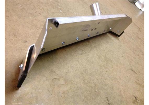 Schlammkrücke / Stallschorer gekröpft aus ALU B 80cm ohne Stiel
