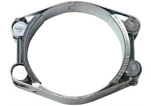 Schlauchbride verzinkt 2-teilig Grösse 110 Ø 100 - 110 Bandbreite 24mm