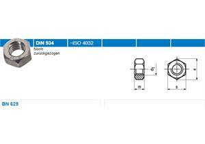 Sechskantmuttern Inox A4 BN629 0,8d M30