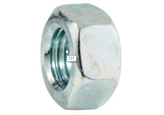 Sechskantmuttern verzinkt DIN 934 Kl.8 M18 - BN117