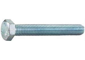 Sechskantschrauben verzinkt mit Vollgewinde 8.8 M4 x 8