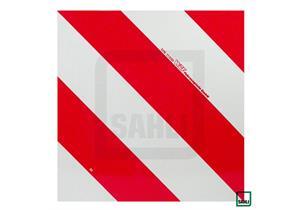 Selbstklebefolie für Signaltafeln rotweiss 423 x 423mm reflektierend