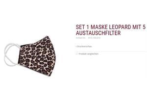 Set 1 Membranmaske leopard inkl. 5 Austauschfilter 60° waschbar