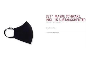 Set 1 Schutzmaske schwarz inkl. 15 Austauschfilter