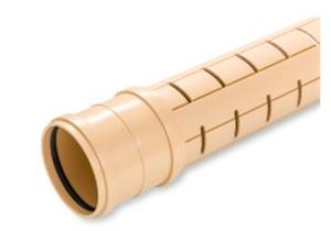 Sickerrohr geschlitzt PP beige SN8 NW100 Ø 110 x 3.8mm L 6m inkl. Dichtung