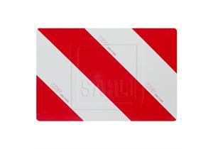 Signaltafeln rotweiss 423 x 282mm reflektierend