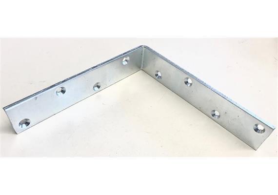 Stehwinkel aus Stahl verz. gleichschenklig L 200, 40/5, Schraubenlöcher Ø4.5 innen vers