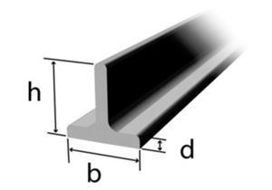 T-Stahl scharfkantig 40 x 40 x 5mm, RSt37-2 warmgewalzt roh