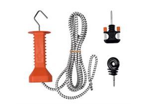Torset mit Cord Gummizug 3.5 - 7m Gallagher mit Griff Torgriff - und Ringisolator