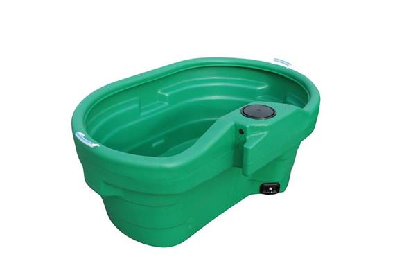 Tränketrog Prebac Polychock 550Liter oval aus PE ohne Ventil und Schwimmer