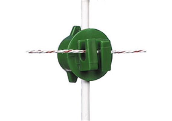 Universalisolator Gallagher grün für Pfähle mit Ø 6 - 14mm 20Stk.