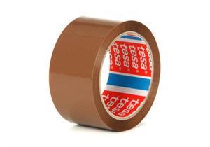 Verpackungsband tesapack aus PP mit lösungsmittelfreier Klebmasse braun B 38mm L 66m
