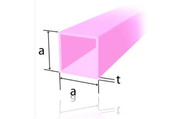 Vierkantstahl 15 x 15 x 2 mm, ST37-2 geschweisst, kaltgewalzt