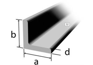 Winkelstahl rundkantig 40 x 40 x 4mm, Stahl S235JR (RSt37-2), gleichschenklig, roh