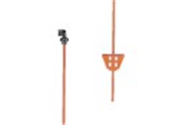 Zaunpfahl aus Federstahl, oval, rot mit festem Isolator