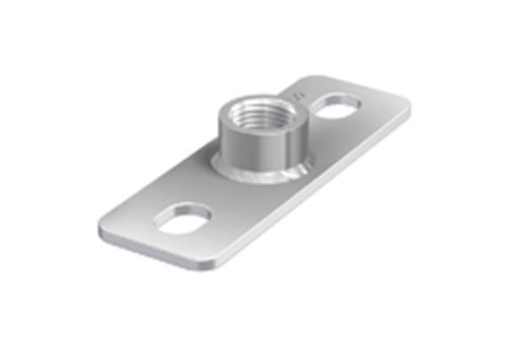 ZUG Grund - + Deckenplattte mit Muffe verzinkt 3/8 - 40/120/4mm
