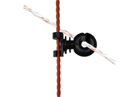Zusatz - Isolator Gallagher Doppelclip für ovale Pfähle 10Stk.